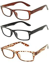 Retro Fashion Style Narrow Rectangular Frame Clear Lens...