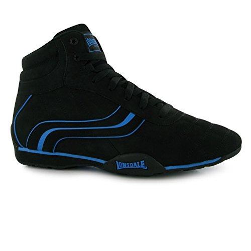 Lonsdale Camden Mid Trainer Herren Schwarz/Blau Casual Sneakers Schuhe Schuhe