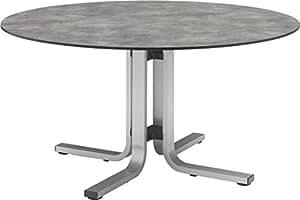 Kettler HPL Dining de mesa redonda, 120cm Float 0101726–0200Mesas Plata/Antracita aluminio/HPL H 74cm aprox.