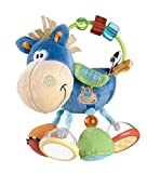 Playgro Activity Rattle Clip Clop, Learning Toy, From 3 Months, BPA-free, Playgro Toy Box Horse Clip Clop, Blue/Multicoloured, 40016