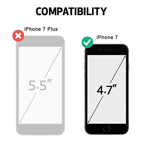 Funda Madera Tallada Protectora Cubierta para iPhone 7 Natural Wood Caja de PC Vintage Bumper Protector Carcasa para Apple iPhone 7 (4.7 inch) Rose-Compass