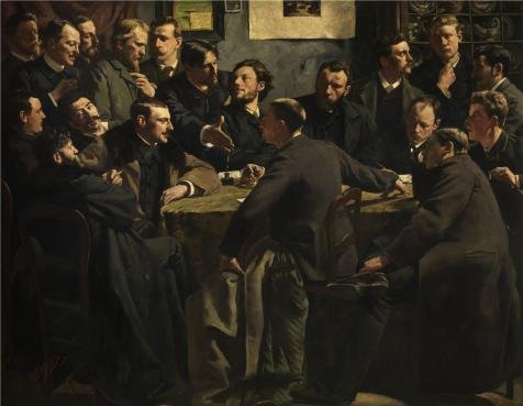 The Perfect Effect Canvas Of Oil Painting 'Henry Luyten - A Session Of The Art Society 'Als Ik Kan', 19th Century' ,size: 8x10 Inch / 20x26 Cm ,this Replica Art DecorativePrints On Canvas Is Fit For Garage Decor And Home Gallery Art And Gifts (Henry The 8th Costumes)
