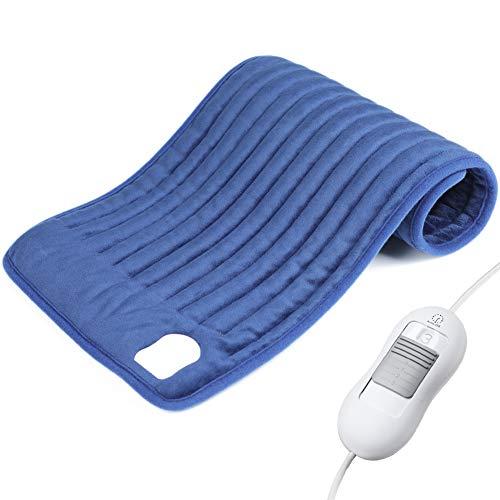 🥇 Manta Electrica Espalda y Cuello – ESSEASON Almohadilla Eléctrica con 3 Niveles de Temperatura y 1