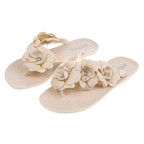 Sandalias 6 de Tallas de 5 Gazechimp Accesorio de y Viaje Albaricoque Colores Zapato de Plano de Vacaciones Bohemia Mujeres de Pantuflas Hotel Playa 1wERqRWI