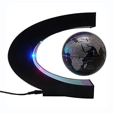 ASOX Funny C Shape Magnetic Levitation Floating Globe World Map LED Light office table decorate | Educational Toys