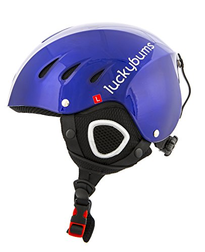 Lucky Bums Snow Sport Helmet, Blue, Small (Youth Skis)
