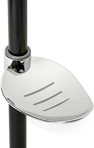 Dish Bathroom Soap Box Pallet Holder Adjustable For Sliding Bar Diameter 22-25mm