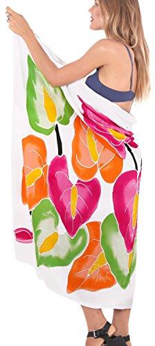 ropa de playa envoltura de baño del juego de falda pareo complejo para mujer del traje de baño de la piscina pareo desgaste traje de baño desgaste encubrir blanco naranja rosa verde