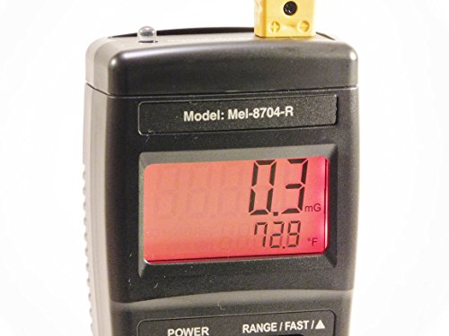 Mel-8704R Paranormal EMF Meter-Thermometer-Flashlight