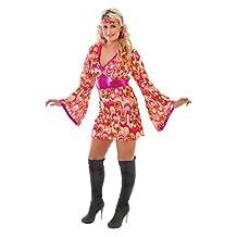 FLOWER POWER 60s 70s HIPPY retro fancy dress 10 12 14