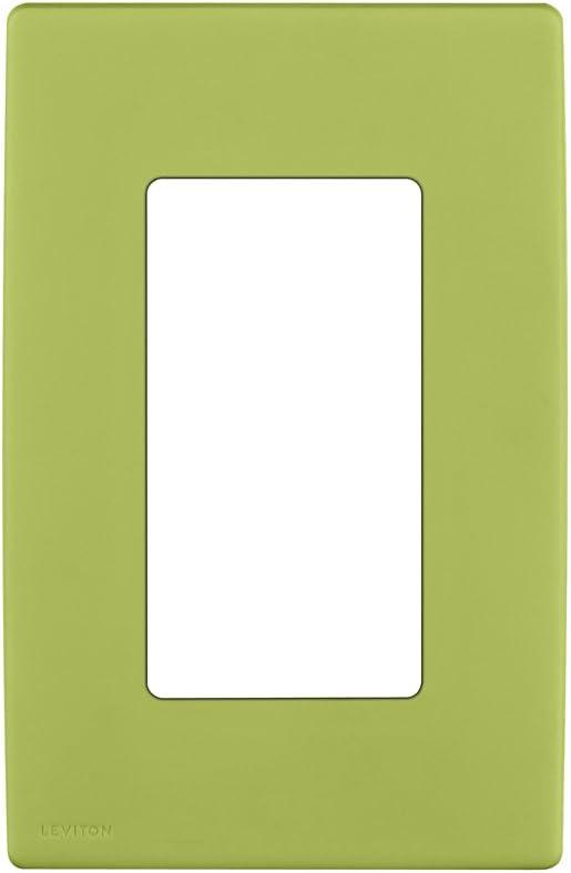 Leviton REWP1-GS Renu One-Gang Screwless Snap-On Wallplate, Granny Smith Apple