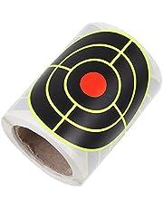 BESPORTBLE 100 Stks Schieten Doel Stickers Zelfklevende Splatter Doel Stickers met Fluorescerende Bullseye Reactieve Doelen voor Schieten