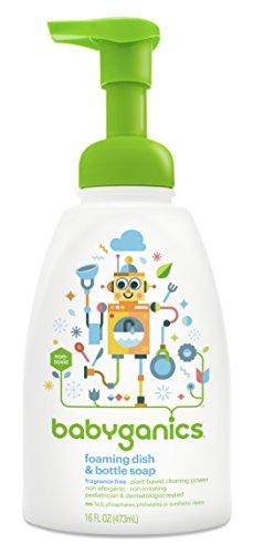 BabyGanics moussants vaisselle et bouteille de savon, sans parfum, pompe de 16 oz Bouteille (Pack de 3)