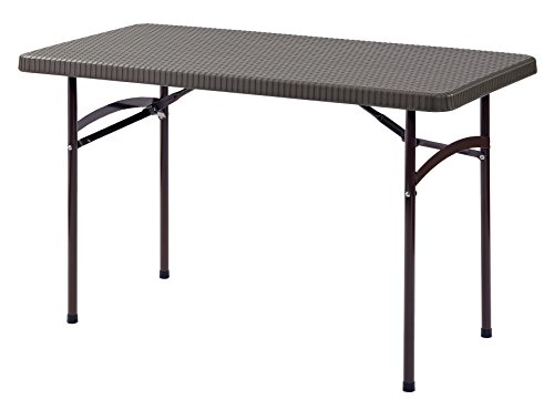 Sandusky Lee PT4824-BR 2'. L x 4'. W Plastic Folding Table in Brown, 29