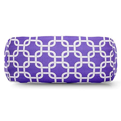 (Majestic Home Goods Purple Links Indoor Round Bolster Pillow 18.5