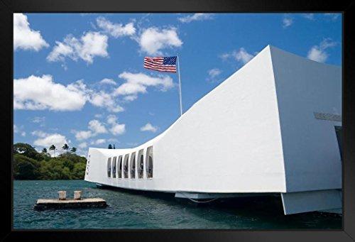 USS Arizona Memorial Pearl Harbor Honolulu Hawaii Photo Art Print Framed Poster by ProFrames 20x14 (Pearl Harbor Flag)