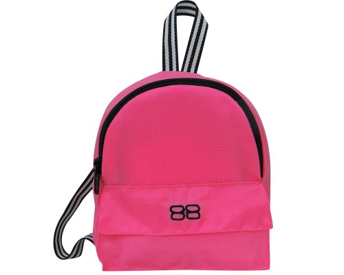 18 Inch Doll Backpack, Sophia's Doll Sized Pink Nylon, Zipper Opening in Hot Pink (Clothing & Accessories)