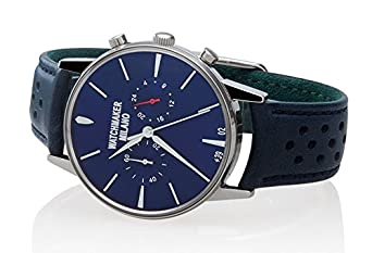 Watch Watchmaker Milano Bauscia Chrono Blue Leather Blue Dial