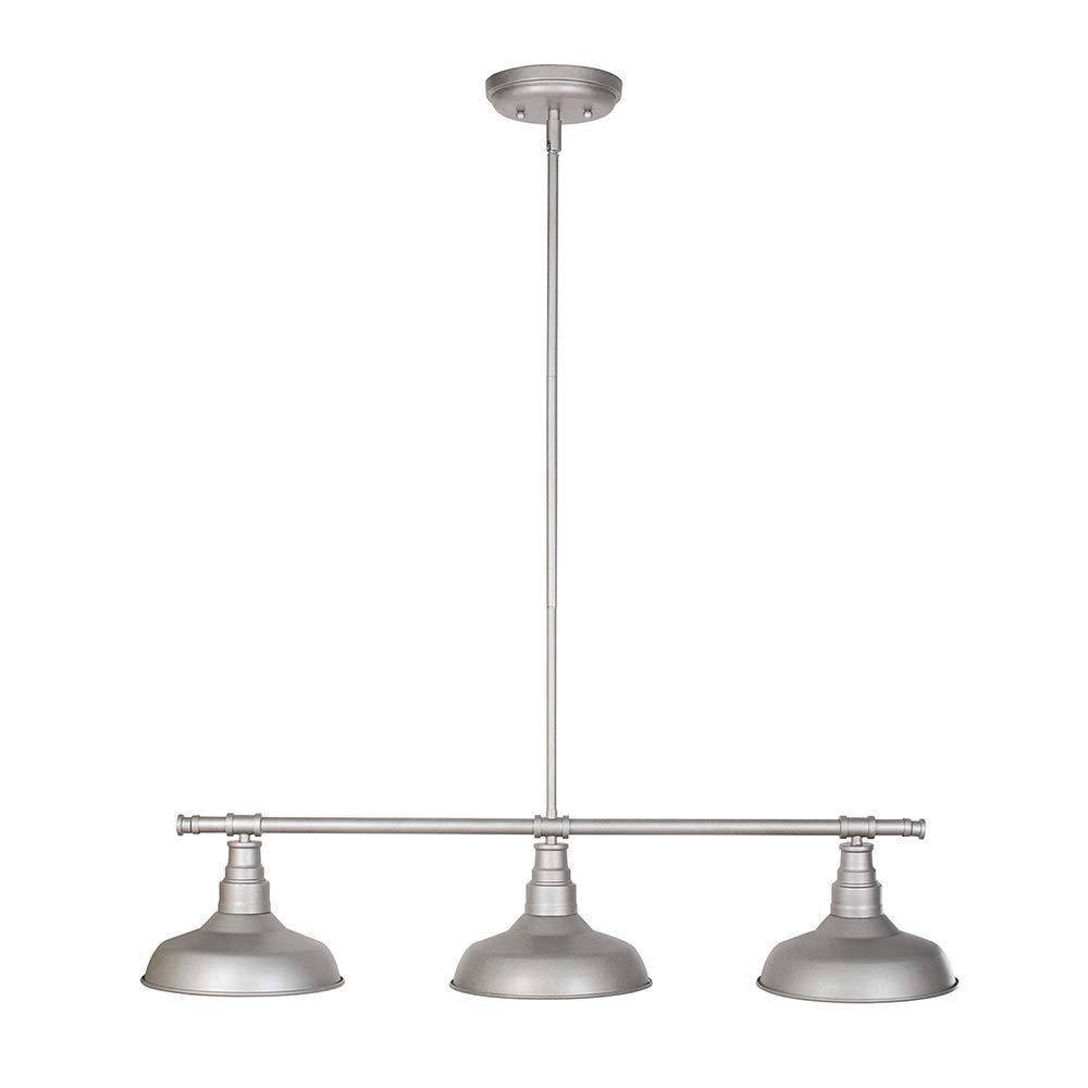 Design House 520379 Kimball 3 Light Pendant, Galvanized Steel Finish