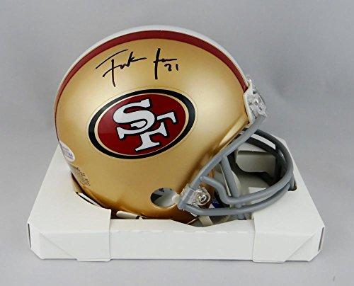 Frank Gore Autographed San Francisco 49ers Mini Helmet - Beckett W Auth Black ()