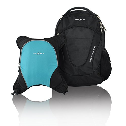 Turquoise And Black Diaper Bag - 3