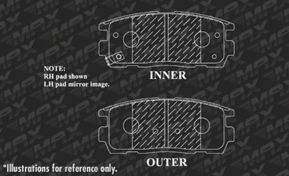 2010 10 2011 11 2012 12 2013 13 2014 14 2015 15 2016 16 2017 17 Chevy Equinox Fits Max Brakes Front /& Rear Carbon Ceramic Performance Disc Brake Pads KT099053