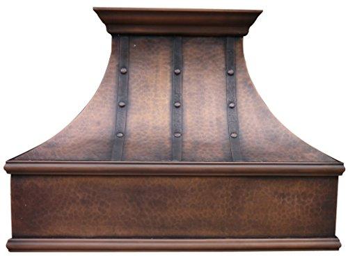 Copper Best H7 362127LT Copper Range Hood with Hammered Stri