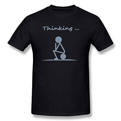 JSFAd Men's Thinking Black T-shirt