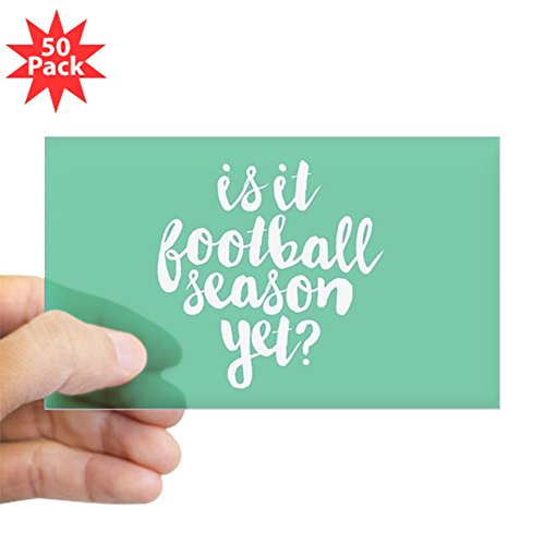 CafePress - Is It Football Season Ye - Sticker (Rectangle 50 pk) by CafePress