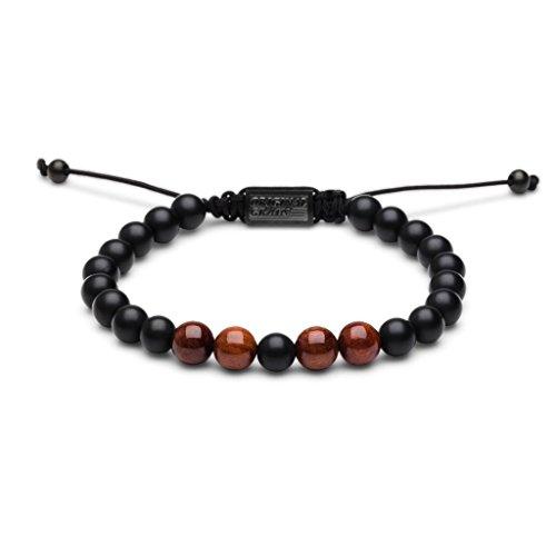 Original Grain Rosewood Black Onyx Macrame Bracelet (Original Watch Bracelet)