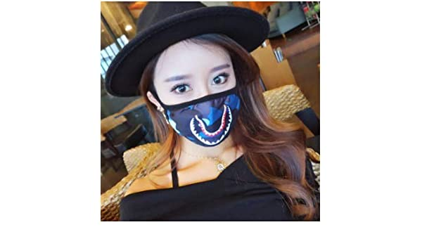 Amazon.com  Shark Face Mouth Mask Bathing Ape Camo Medical N95 Mask Camping  First Aid Kits Cotton Anti Dust Half Face Mouth Masks Covers Mouth Muffle  for ... 2913000f35cd