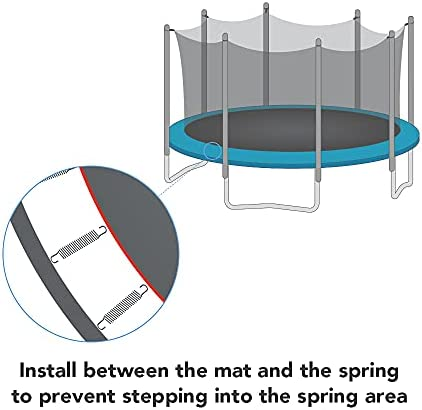Round Trampoline Enclosure Net Replacement Fence Fits 12/' 4 Arch 8 Pole Frame
