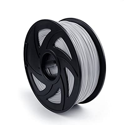Areyourshop ABS 3D Printer Filament 1.75 mm,1kg Spool 2.2lbs, Dimensional Accuracy +/- 0.03mm,for 3D Printers,3D printing Pen Silver