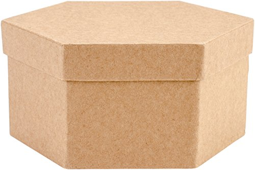 Art Alternatives MVPM06224 Paper-Mache Hexagon Box Set 5/Pkg