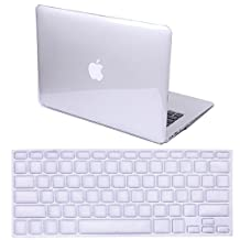 HDE MacBook Air 13 inch Case Soft Touch Matte Plastic Hard Case with Keyboard Cover (Models: A1369 and A1466), Crystal Clear