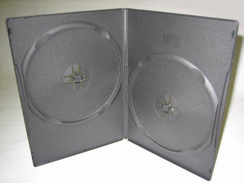 SLIM 7MM DOUBLE DVD, 2 DISC, CASE, BLACK, PSD35, 100 PCS/CASE -