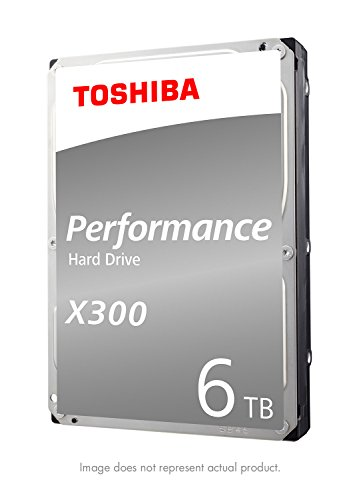 Toshiba X300 6TB Performance Desktop and Gaming Hard Drive 7200 RPM 128MB Cache SATA 6.0Gb/s 3.5 Inch Internal Hard Drive (HDWE160XZSTA)