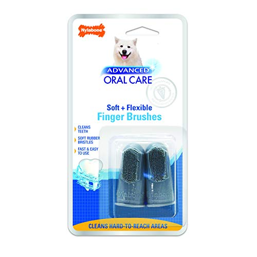 Nylabone Advanced Oral Care Dog Finger Brush, 2 pack