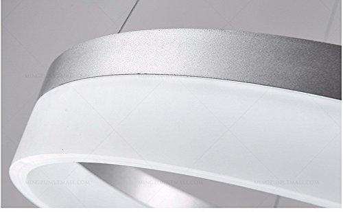 XHOPOS HOME Lámpara Colgante Sencillo moderno restaurante luz anillo acrílico dormitorio salón 20cm Luz cálida: Amazon.es: Iluminación
