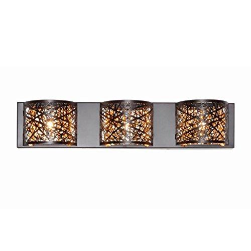 Cheap  ET2 Lighting E21316-10BZ Bathroom Fixture with Metal Shades – Wall Mounted Bronze..