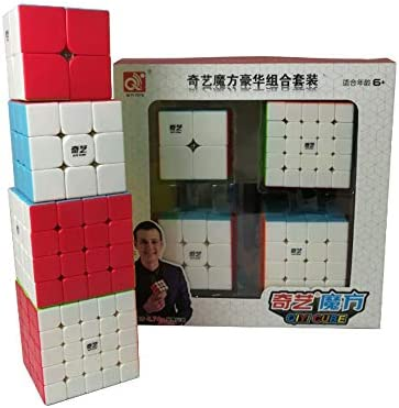 QiYi Pack Cubos 4 en 1 (2x2, 3x3, 4x4, 5x5) - Stickerless: Amazon.es: Juguetes y juegos