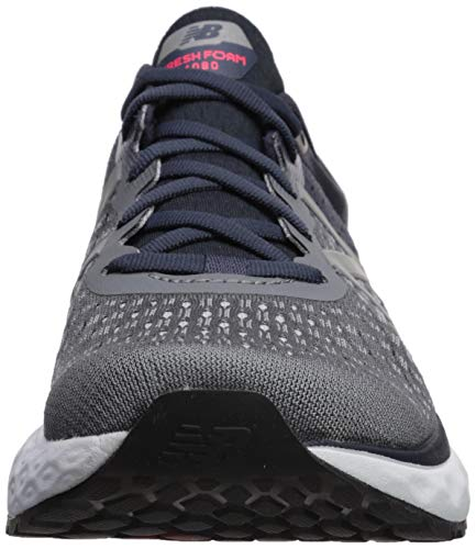 New Balance Men's 1080v9 Fresh Foam Running Shoe, Gunmetal/Outerspace/Energy red, 7 W US by New Balance (Image #4)