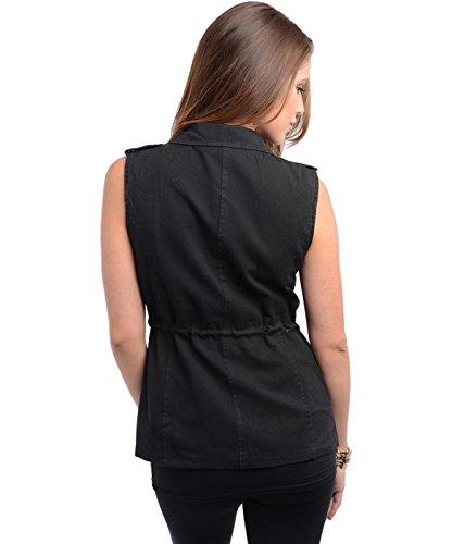 2LUV Women's Drawstring Stud Accent Vest