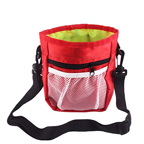 Dog Treat Pouch Bag,Carry Snacks and Toys,Easily Carries Pet Toys, Snacks, Treats,Puppy Training Pouch,Built-in Poop Dispenser, Bait Carrier -