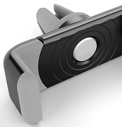 Cell Phone Holder, Mopo Portable Adjustable Car Air Vent Mount Holder 360 Degree Rotatable Cradle for Most Smartphones (Screen Below 6 Inch)apple Iphone 6, Iphone 6 Plus,iphone 5/5s/4/4s, Google Nexus,samsung Galaxy S6/s5/s4/s3 S6 Edge,htc One, Lg, Sony, Blackberry and More (gray)