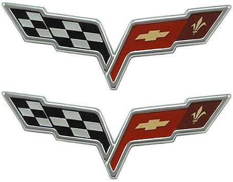 NEW 2005-2013 Chevy Corvette C6 CHROME REAR Bumper Waterfall Emblem OEM GM
