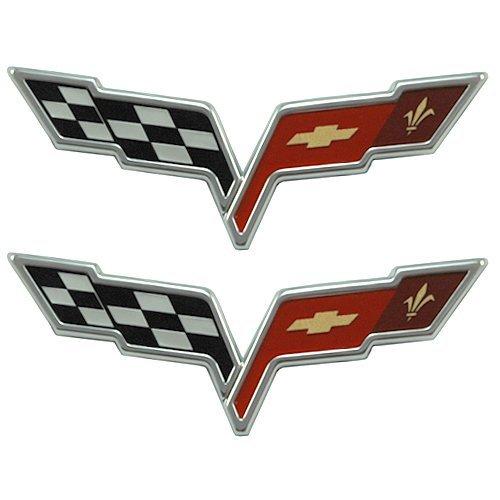 GM 22901568 & 22901567 - Corvette Emblem C6