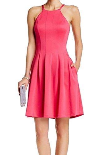 134 Spaghetti Womens B Fit Flare B Klein Strap Calvin 3155 New Dress Pink 8 YqA5xa