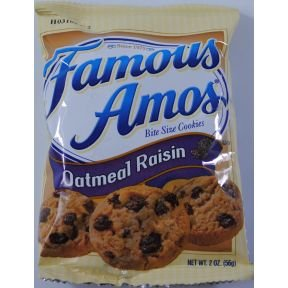 Famous Amos Oatmeal Raisin Cookie Case Of 8 Amazon Com Grocery Gourmet Food