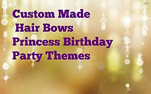 PRINCESS BIRTHDAY PARTY THEMES LITTLE GIRLS HAIR BOW TODDLER HAIRBOWS SPARKLE MARABOU